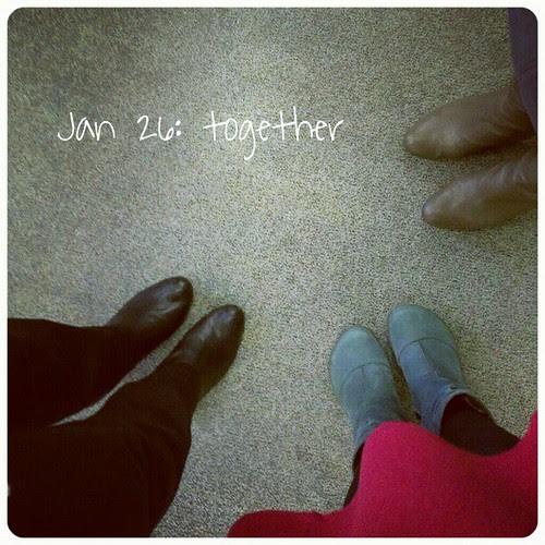 Jan 26: together .. #teamwork #fmsphotoaday