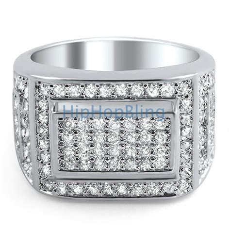 Bling Bling Ring Mens Iced Out Micro Pave CZ   Bling Bling