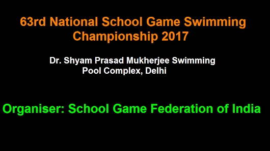 63rd National School Game Swimming Championship 2017-18: Hindi