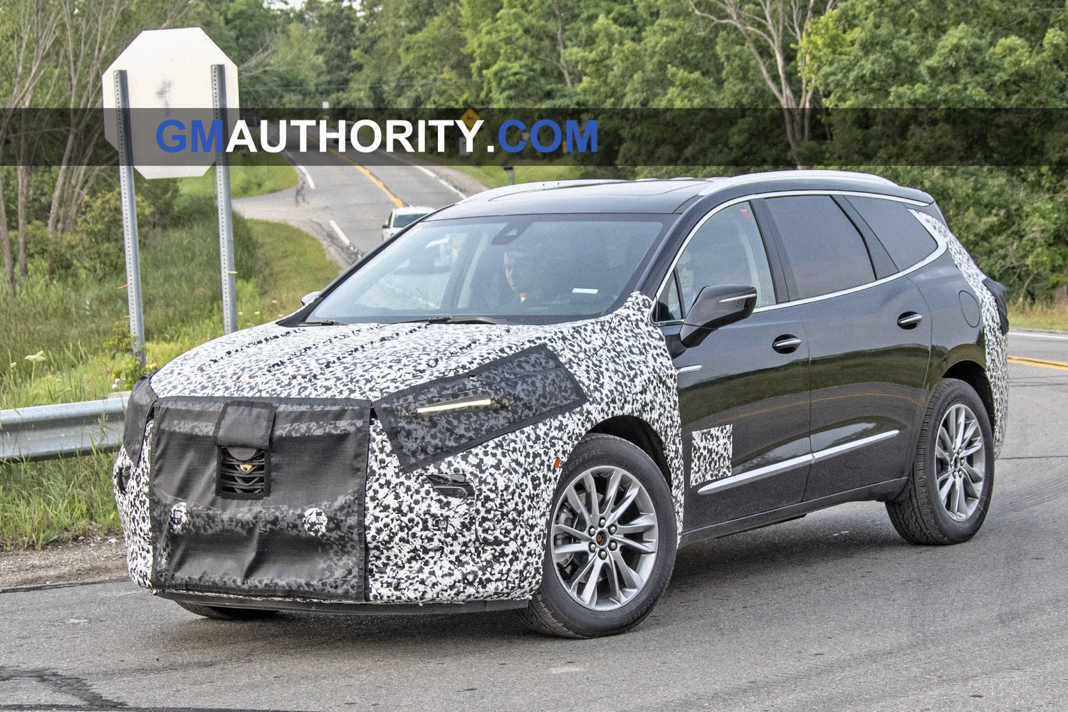 buick enclave refresh spied testing for the first time