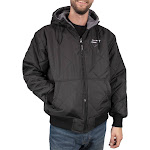 Freeze Defense Men's Fleece Lined Quilted Winter Jacket Coat (Small, Black)