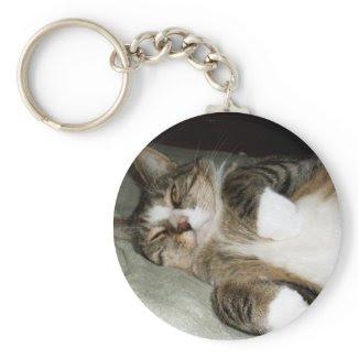 Manx Cat Keychain Key Chains