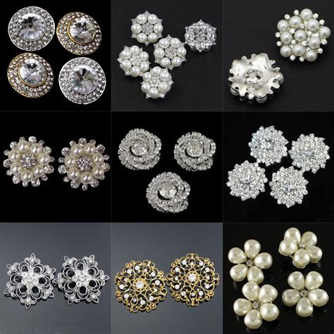 pearl crystal rhinestone buttons sewing craft