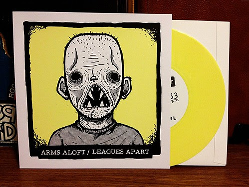 "Arms Aloft / Leagues Apart - Split 7"" - Yellow Vinyl (/100) by Tim PopKid"