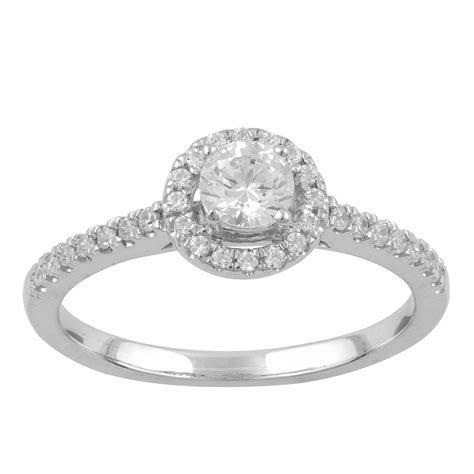 Tradition Diamond 14k White Gold .5 CTTW Certified Diamond