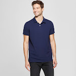 Men's Standard Fit Short Sleeve Loring Polo T-Shirt - Goodfellow & Co Navy Voyage