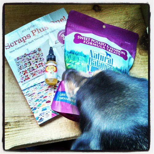 More #review items arrived today! #dogtreats #scrapsplusone #book #vermontsoap #hotspotrelief