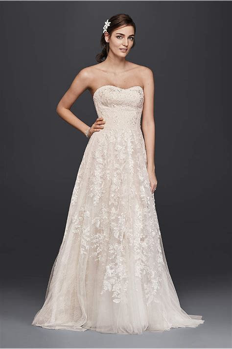 Strapless Beaded Lace Mermaid Wedding Dress   David's Bridal
