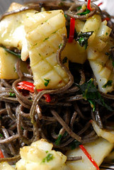 Black Bean Spaghetti with Calamari© by Haalo