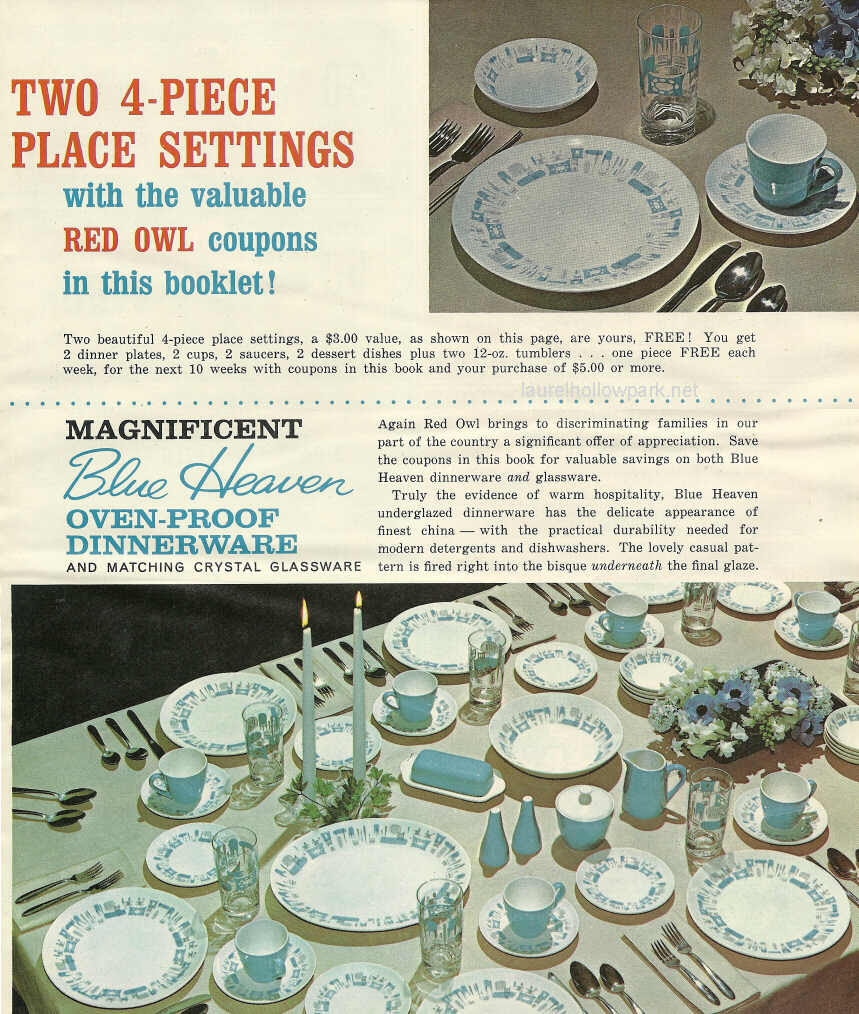 Retro Blue Heaven dish promotion