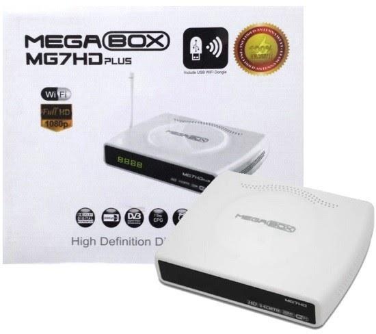 MEGABOX MG7 HD PLUS NOVA ATUALIZAÇÃO V1.62 - 13/04/2018
