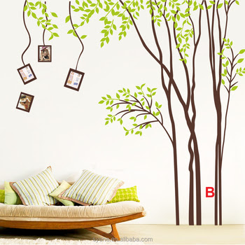 large size decor wall sticker tree design vinyl Tree Wall Stickers