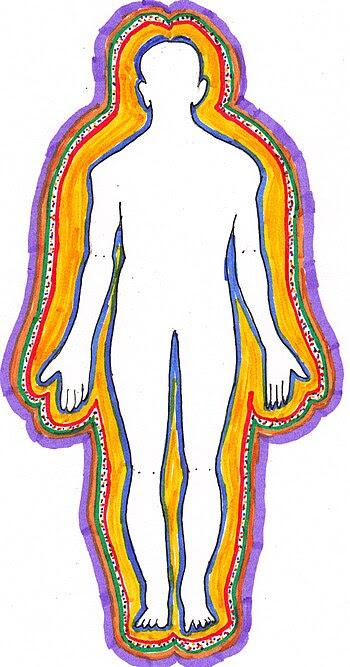 Español: Dibujo de la silueta humana realizado...