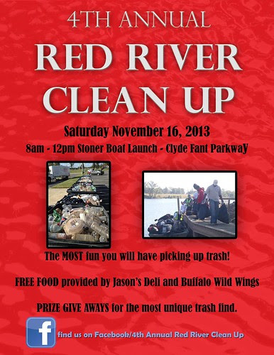 Red River Clean Up Sat, Nov 16, 8 am - noon by trudeau