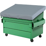 Covers & All Dumpster-T-Grey-01 18 oz Waterproof Dumpster Cover Grey - 48 x 36 x 6 in.