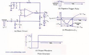 op-amp monostable multivibrator