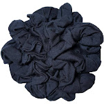 Navy Cotton Scrunchies, 10 piece Pack