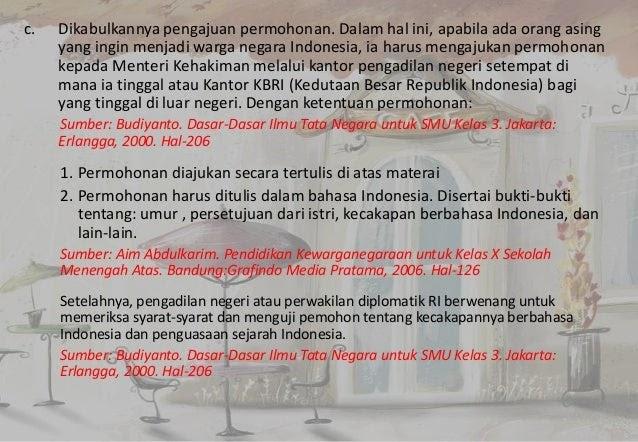 Sebutkan Syarat Syarat Menjadi Warga Negara Indonesia ...