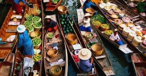 Chợ nổi Damnoen Saduak floating market ở Thailand (Vlog)