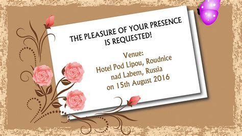 E card Wedding Invitation Animated   YouTube