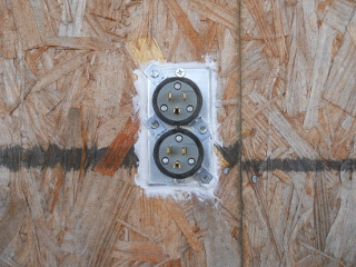 External Electricity Male Receptacle in Place