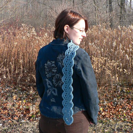 PlanetJune Accessories Scalloped Scarf crochet pattern
