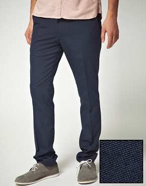 ASOS Slim Fit Blue Trousers