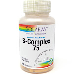 Vitamin B-Complex 75 Two Stage Timed-Release 75 mg By Solaray - 100 Capsules