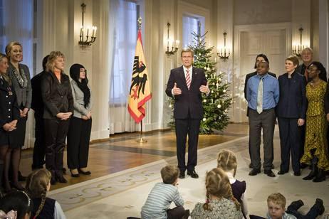 Bundespräsident Christian Wulff bei seiner Weihnachtsansprache 2011