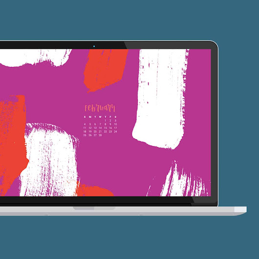 FREE February desktop wallpaper calendars