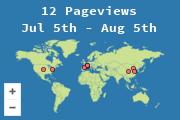 Localización de los visitantes de este blog