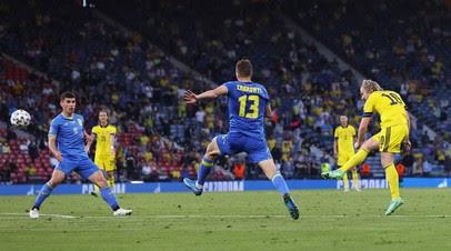 Украина и Швеция перевели матч в дополнительное время на Евро-2020