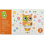 Babyganics Size 2 Disposable Diapers Value Box - 90 Count