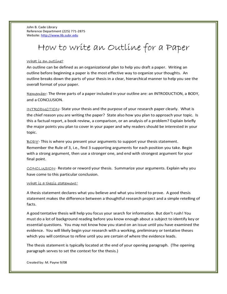 writing a thesis statement for a research essay
