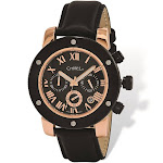Chisel Rose IP-plated Black Dial Chronograph Mens Watch - TPW119
