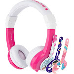 Onanoff BP-EX-FD-PINK-01-K Foldable Durable & Comfortable Built in Headphone with In Line Mic - Pink