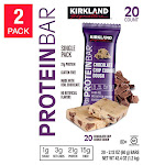 Kirkland Signature Protein Bars Chocolate Chip Cookie Dough 20-Pack, 2-Count