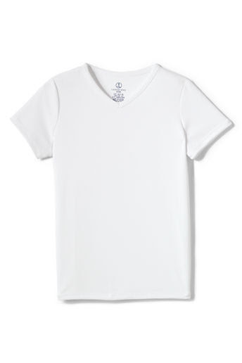 School Uniform Girls' Performance V-neck T-shirt - White