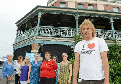 BYRON CALLING: Peter Lehner is leaving Lismore in response to the council decision to add fluoride to the drinking water. With him are Linda Whitefeather, Lee Ryan, Jill Garsden, Heather McDiarmid, Ros Irwin, Helen Coyle, Vicki Findlay and Louise Somerville.