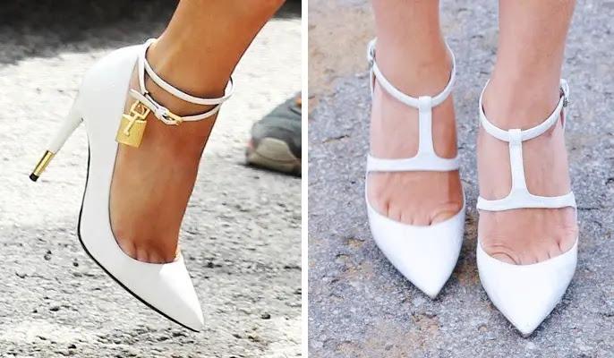 Resultado de imagem para sapato branco tendencia