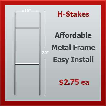 Yard Sign Wire Frames