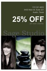 PCS-1020 - salon postcard flyer