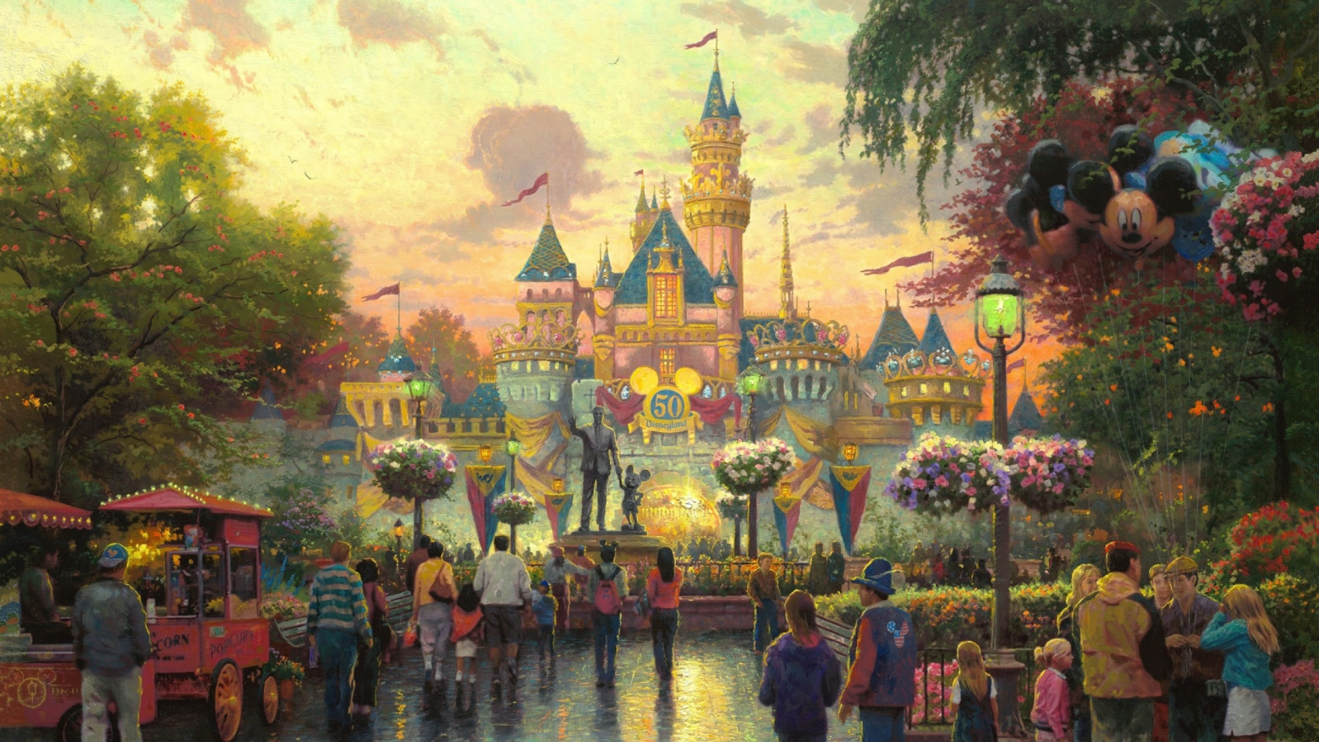 1920x1080 Walt Disney Castle Anniversary Desktop Pc And Mac Wallpaper