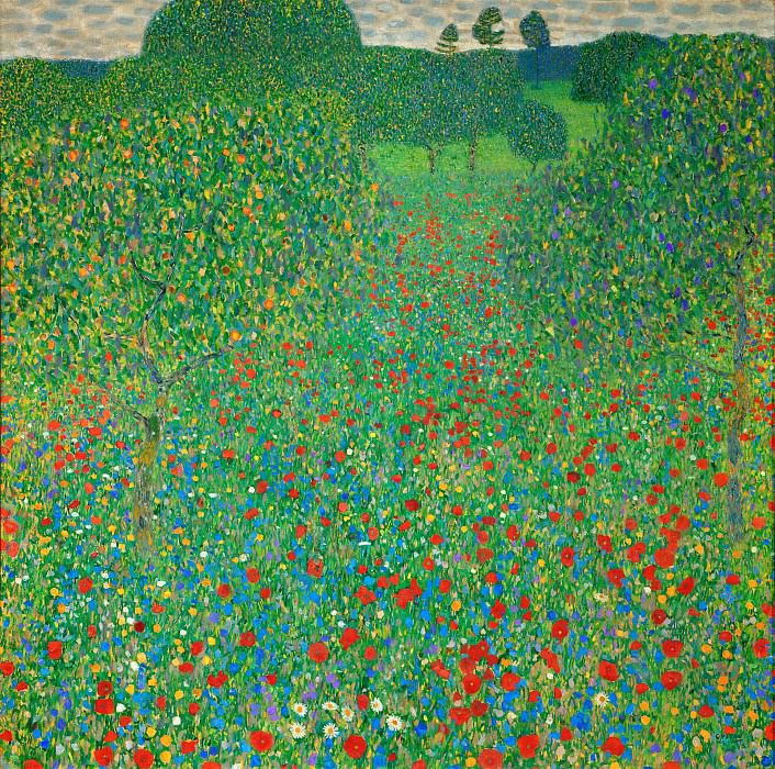 Маковое поле. Густав Климт