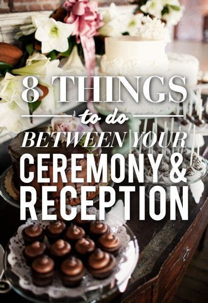 8 Things To Do Between Your Ceremony & Reception   Tips