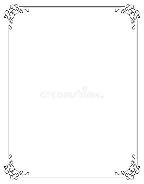Fancy Page Border Two Royalty Free Stock Photo   Image