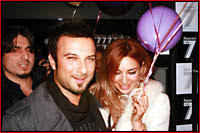 Tarkan and his girlfriend of seven years Bilge celebrating her 30th birthday on Sunday