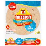 Mission Carb balance Tortillas, Whole Wheat, Fajita - 8 tortillas, 8 oz