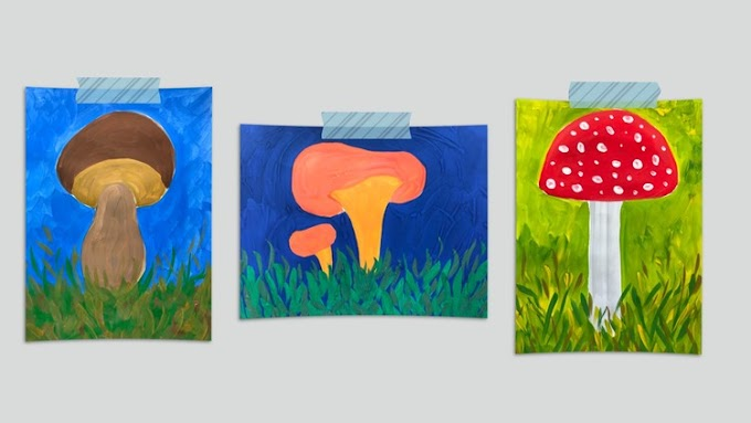 [100% Off UDEMY Coupon] - Wild Mushrooms Painting.Step by Step Art Lessons for Kids 5+