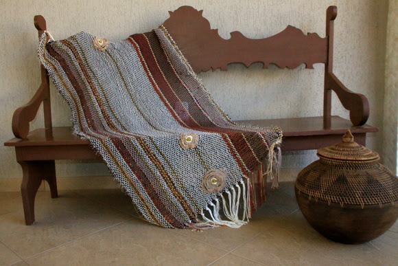 Manta de sofá em algodão colorido